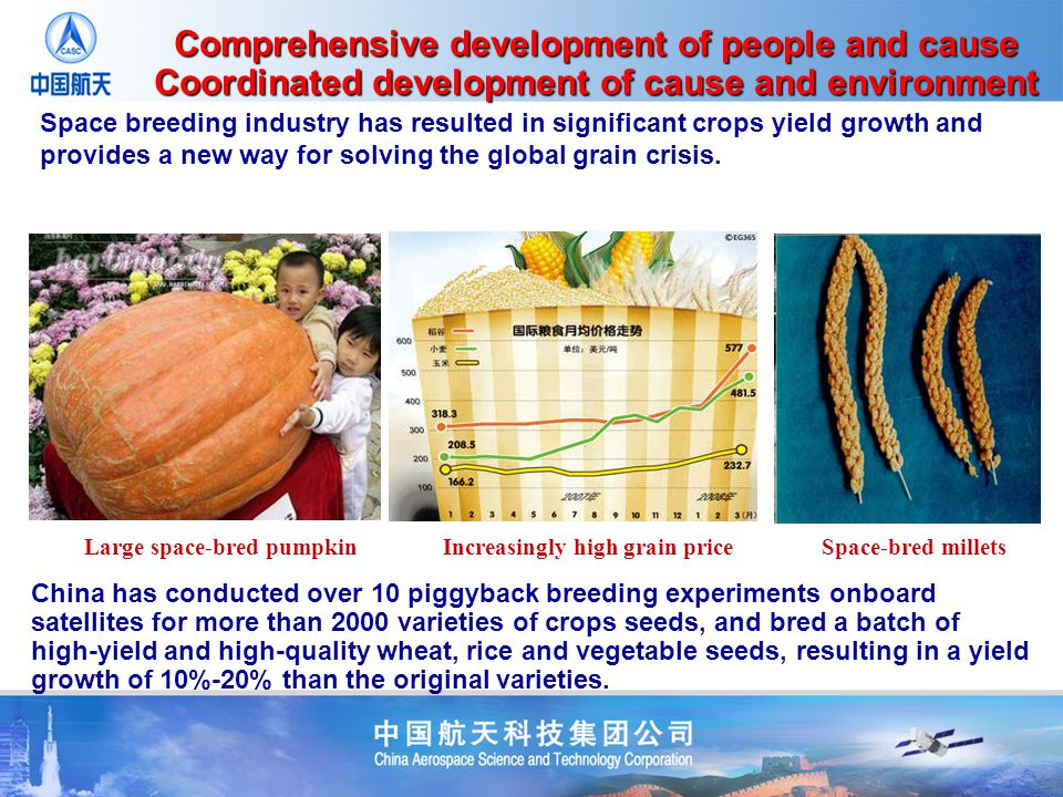 Space breeding industry has resulted in significant crops yield growth and provides a new way for solving the global grain crisis.