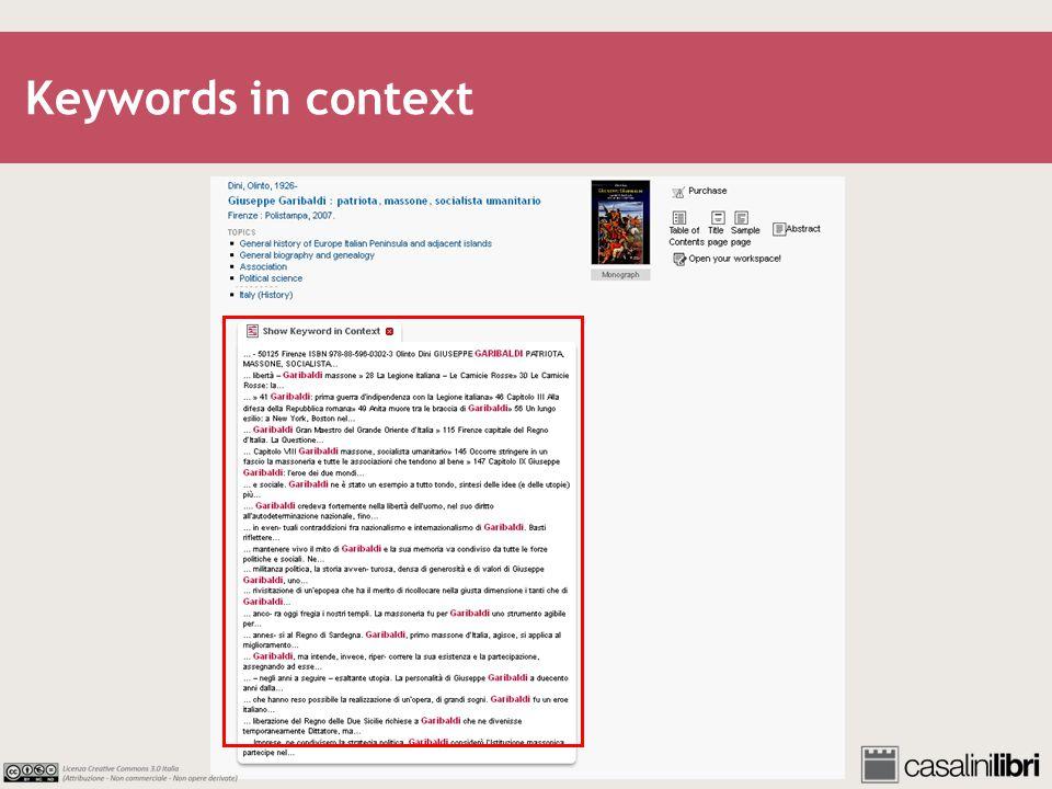 Keywords in context