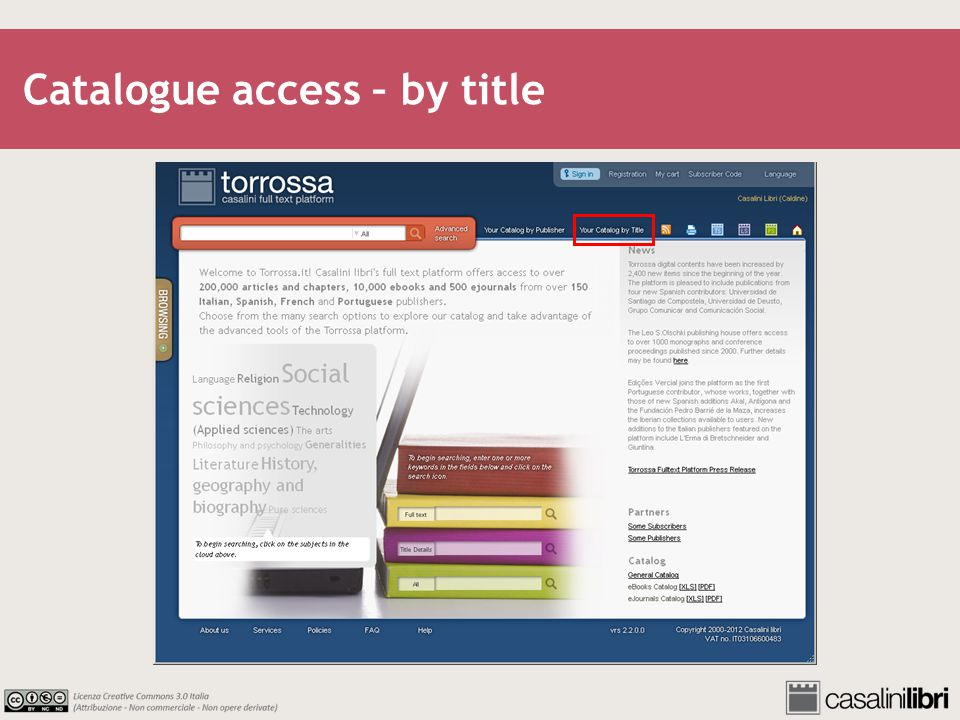 Catalogue access – by title
