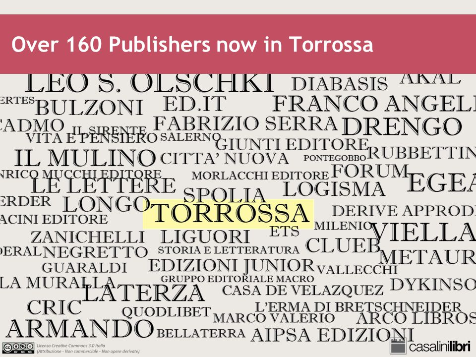 Over 160 Publishers now in Torrossa