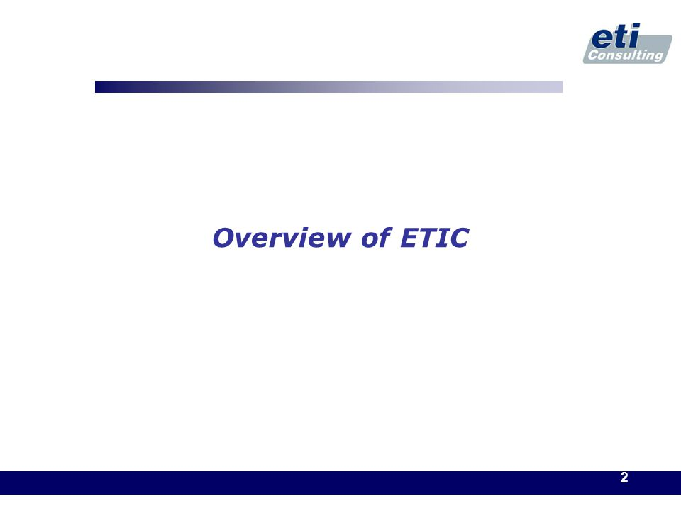 2 Overview of ETIC