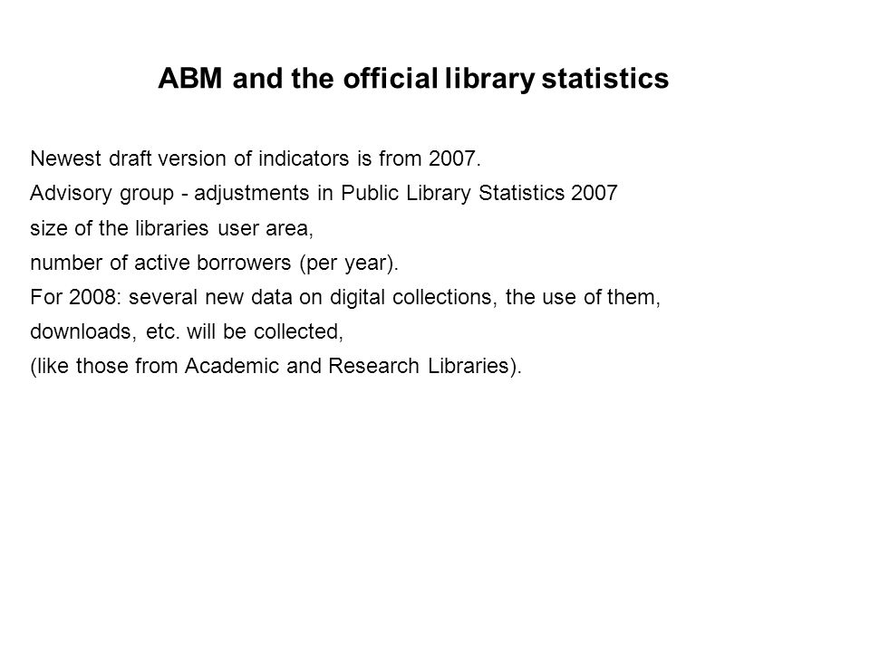 The results from Århus and the Norwegian main libraries were concurrent.
