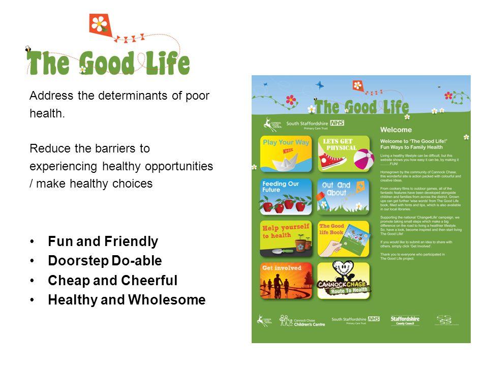 Address the determinants of poor health.