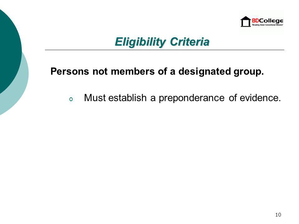 9 Individuals are presumed to be socially disadvantaged if they are a U.S.