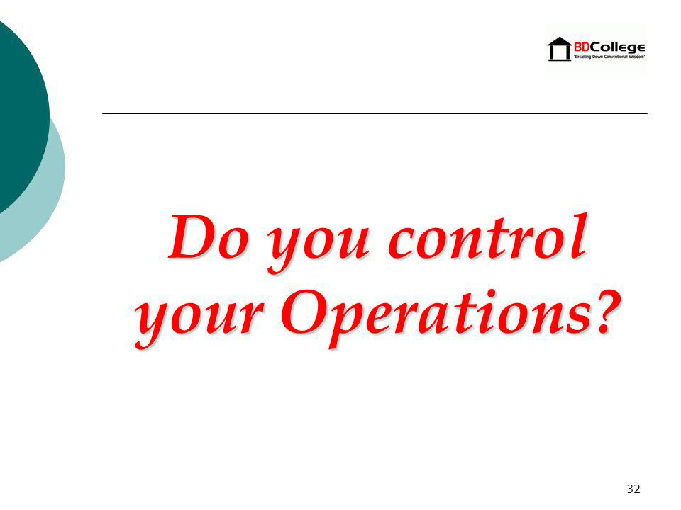 31 What Constitutes Control? The Disadvantaged Individual must: Hold the position of President or Chief Executive Officer, Managing Partner or LLC Man