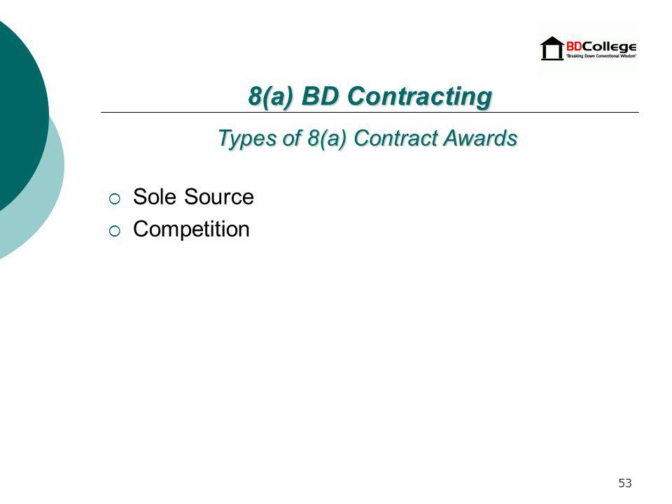 52 8(a)BD Contracting