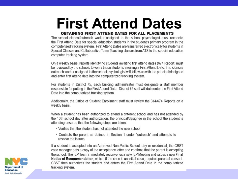 First Attend Dates
