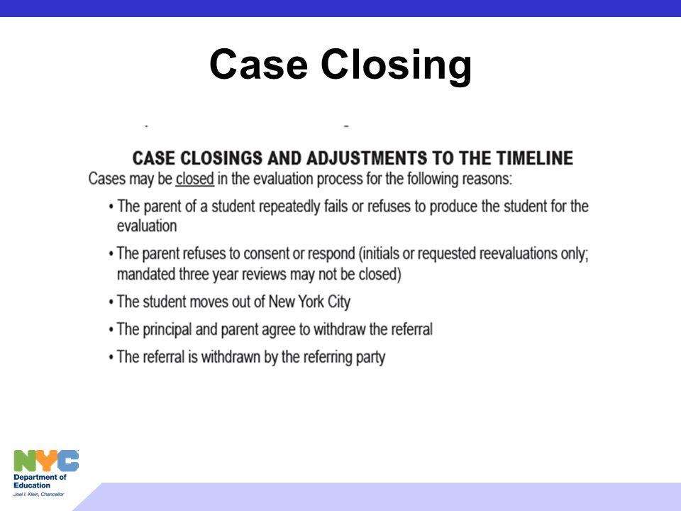Case Closing