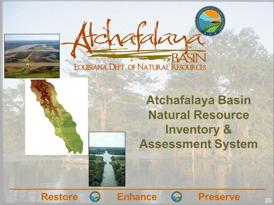 RestoreEnhancePreserve 25 Atchafalaya Basin Natural Resource Inventory & Assessment System
