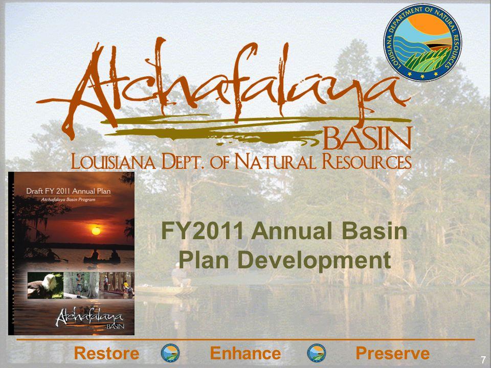 RestoreEnhancePreserve 7 FY2011 Annual Basin Plan Development