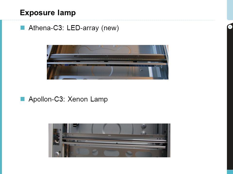 Exposure lamp Athena-C3: LED-array (new) Apollon-C3: Xenon Lamp 41