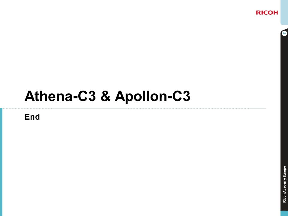 Ricoh Academy Europe Athena-C3 & Apollon-C3 End 68