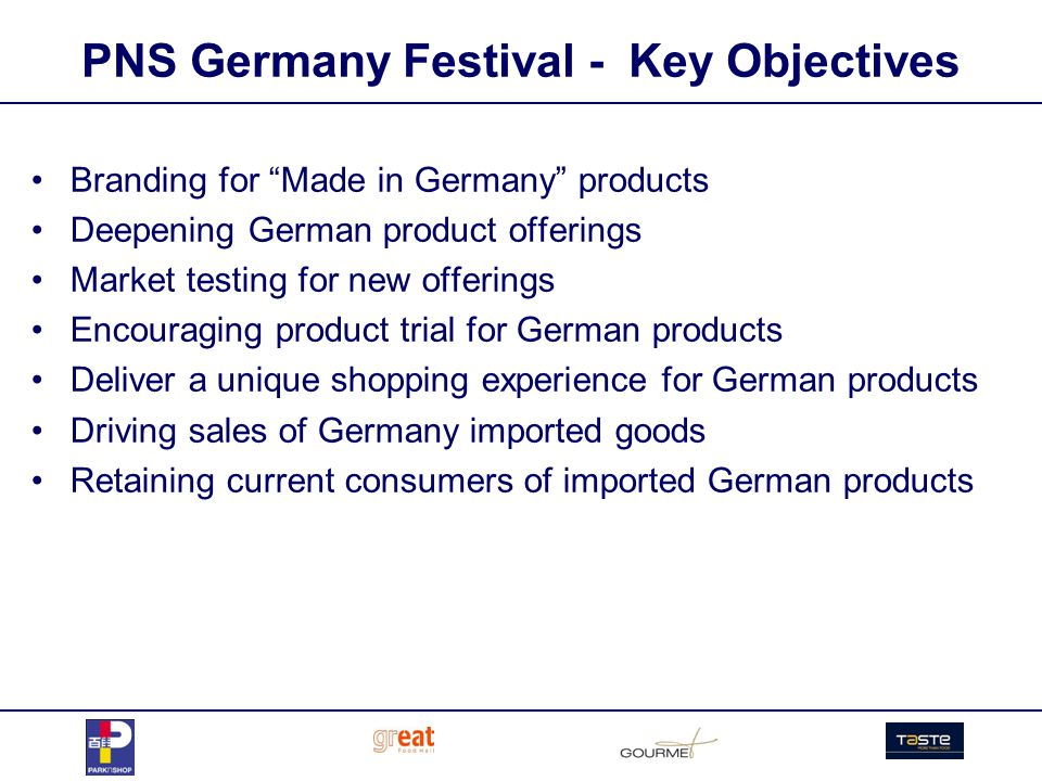 PNS Germany Festival – Sales Trend