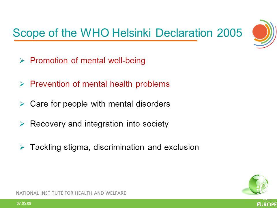 07.05.09 3 EU Mental Health Pact & Expert Consensus Papers 2008