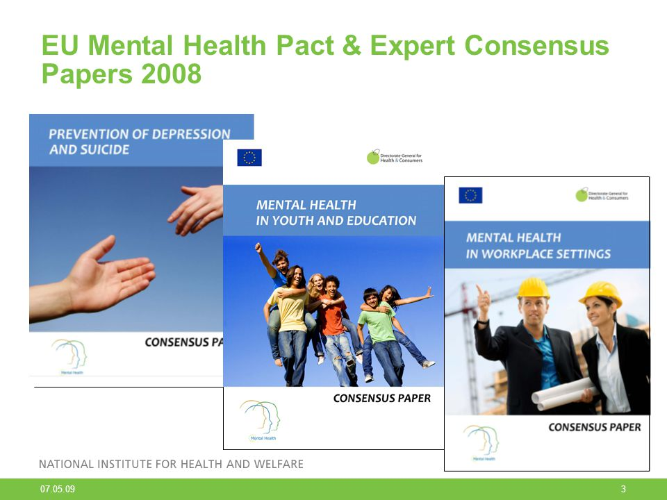07.05.09 4 The spectrum for interventions of mental health problems and mental disorders