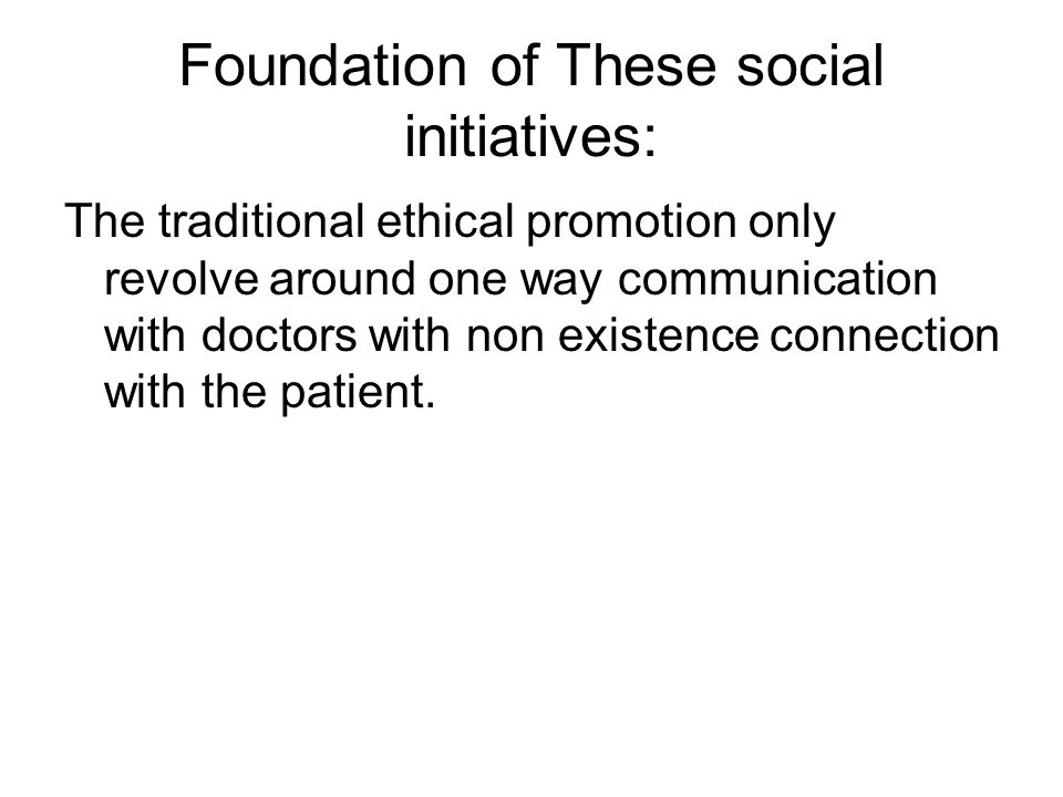 The social initiatives revolve around interacting, engaging and connecting with the Target Group ( Both medical fraternity and patients)