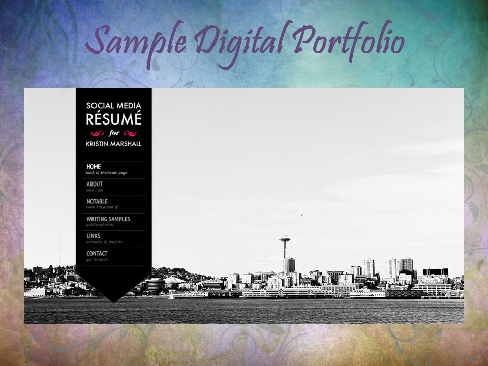 Sample Digital Portfolio
