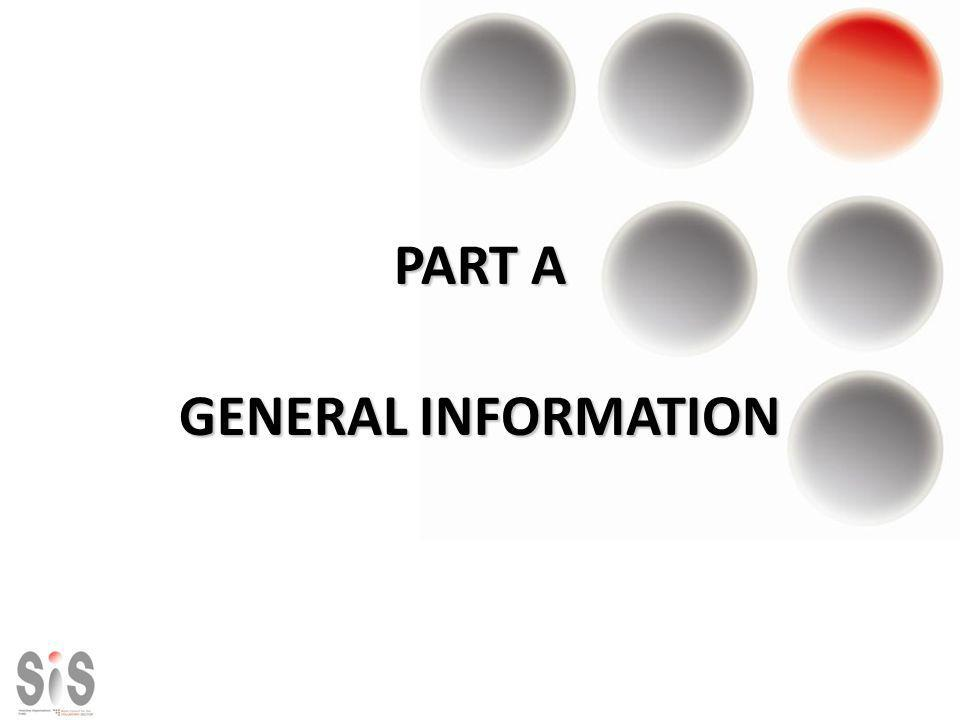 PART A GENERAL INFORMATION