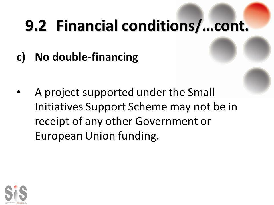 9.2 Financial conditions/…cont.