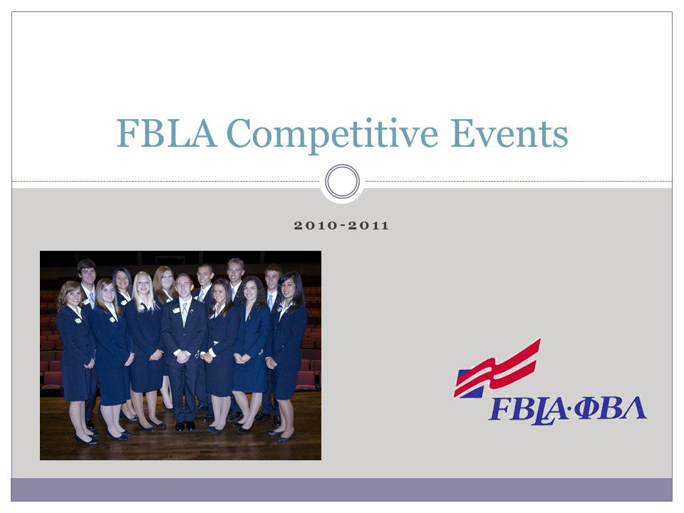 2010-2011 FBLA Competitive Events