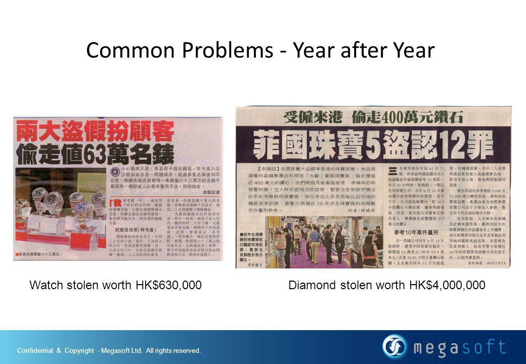 Common Problems - Year after Year Watch stolen worth HK$630,000Diamond stolen worth HK$4,000,000
