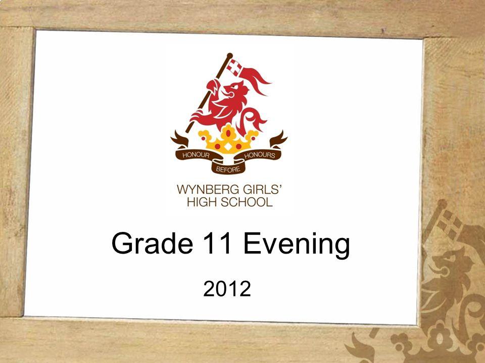 Wynberg Girls High School Grade 11 Evening 2012