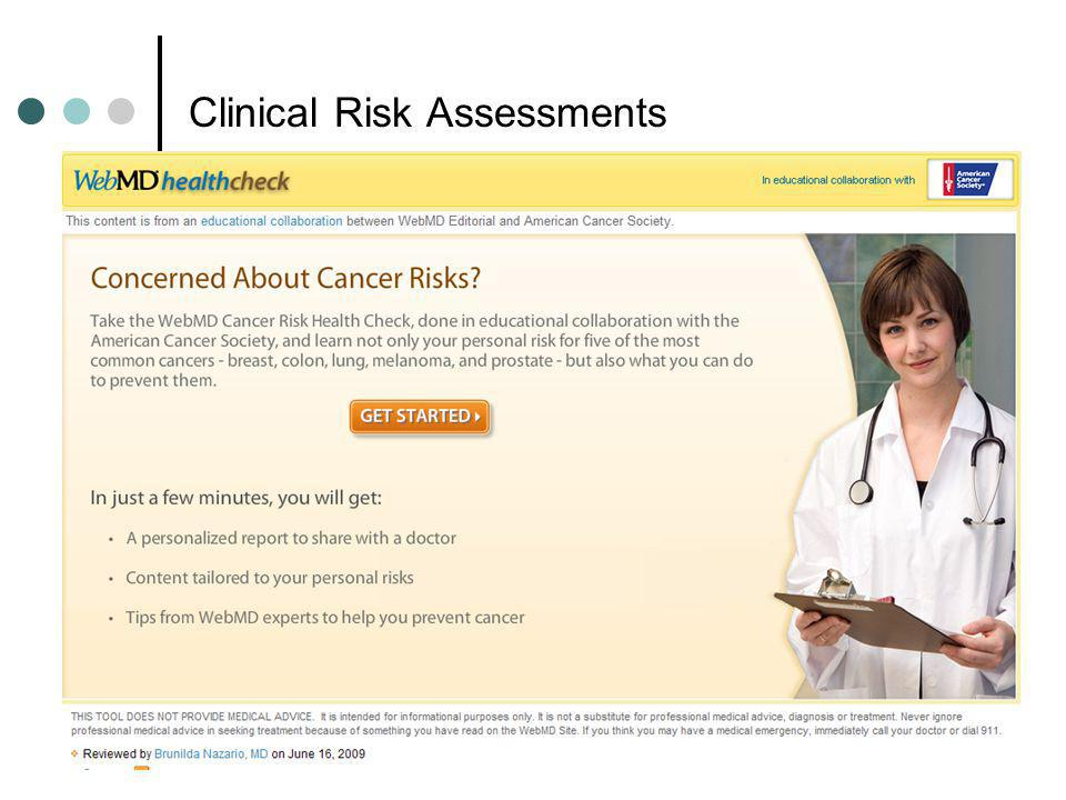 Clinical Risk Assessments