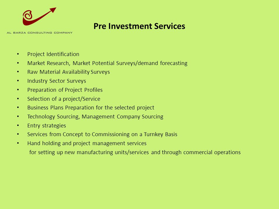 Consultancy Services for Existing Units/Services Strategy for achieving substantial growth improving efficiency, consider strategic alternatives to achieve growth To challenge every assumption to build new vision, mission, strategy, objectives, goals, processes, performance measurements.