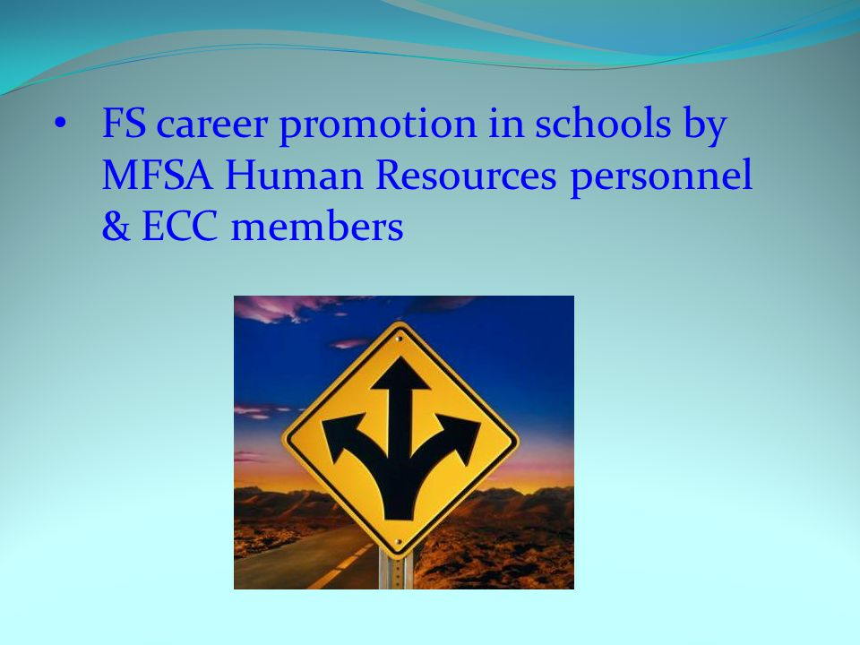 FS career promotion in schools by MFSA Human Resources personnel & ECC members