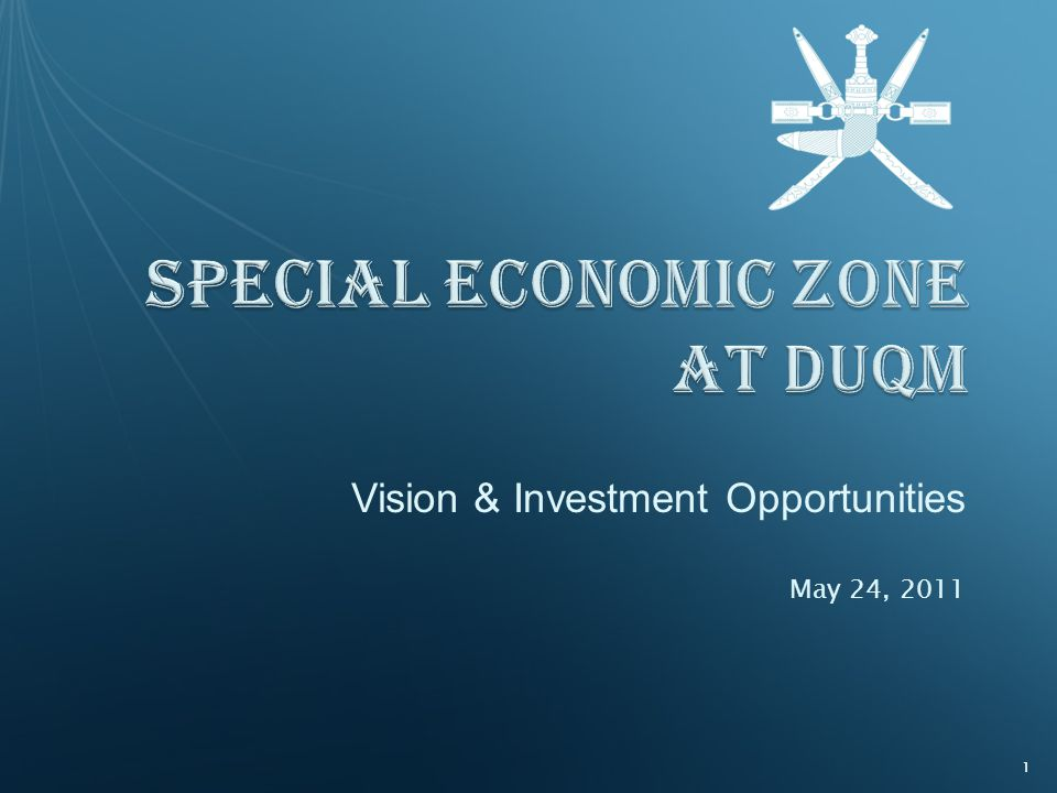 Vision & Investment Opportunities May 24, 2011 1