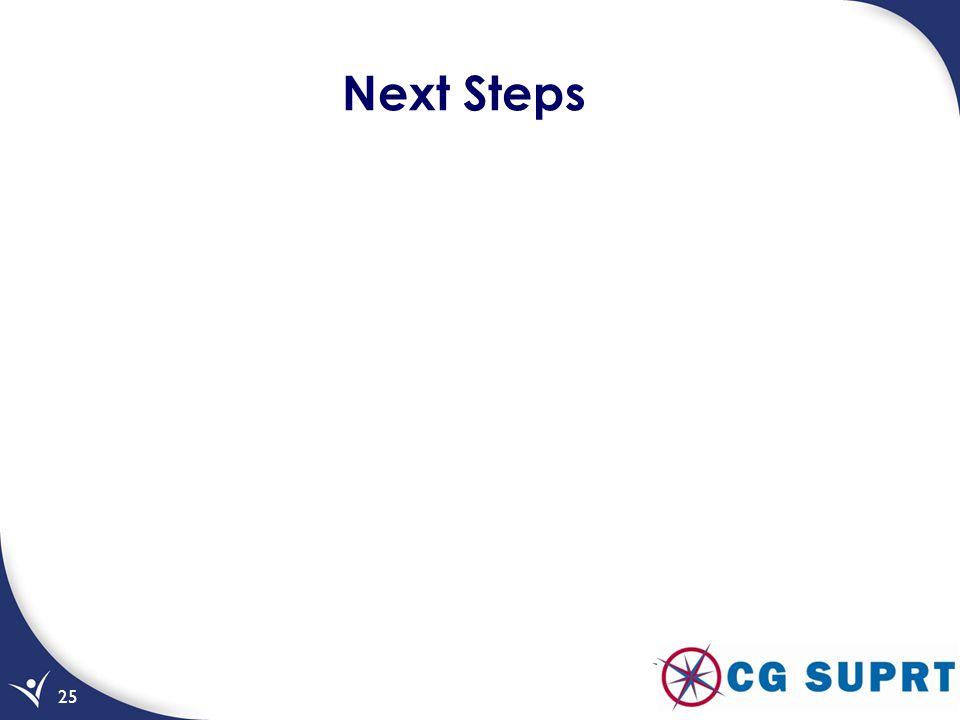 25 Next Steps