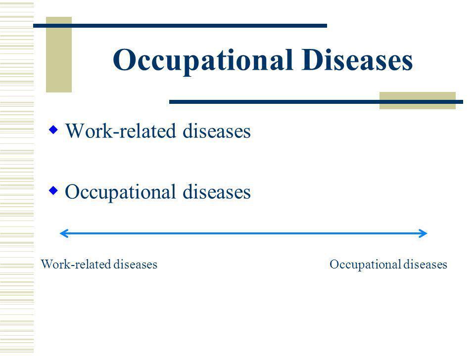 Occupational Diseases Work-related diseases Occupational diseases Work-related diseasesOccupational diseases