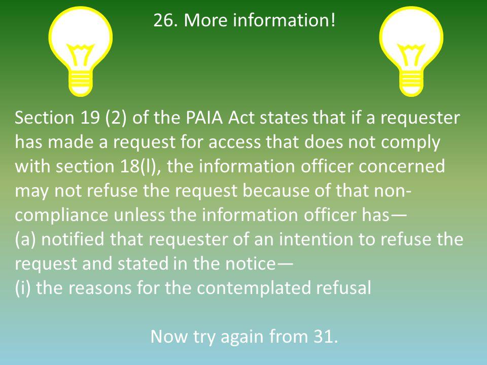 26. More information.
