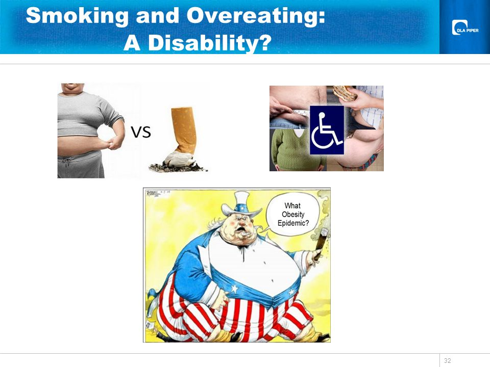 32 Smoking and Overeating: A Disability?