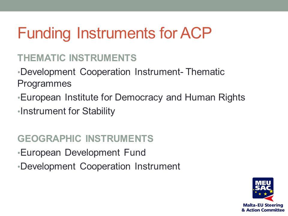 DEVELOPMENT COOPERATION INSTRUMENT (2007-2013) 5 Thematic Programmes 5.6 billion (2007-2013)