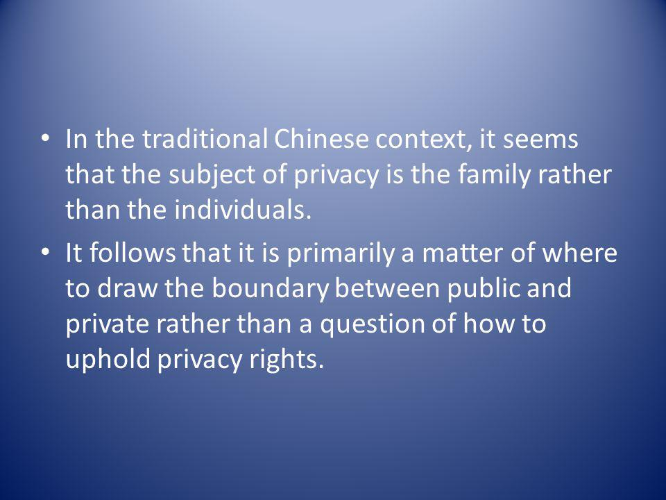 The right to be let alone Spatial/locational privacy Decisional privacy