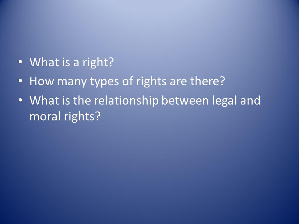 Legal rights only make sense in the context of positive laws.