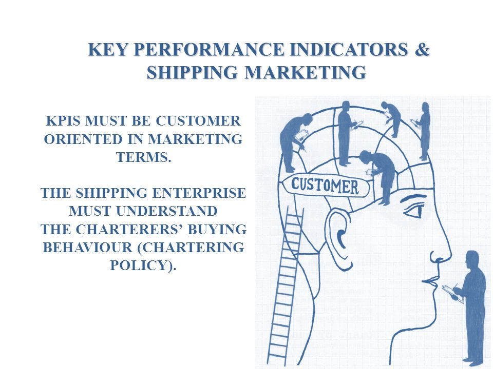 KEY PERFORMANCE INDICATORS & SHIPPING MARKETING KEY PERFORMANCE INDICATORS & SHIPPING MARKETING KPIS MUST BE CUSTOMER ORIENTED IN MARKETING TERMS. THE