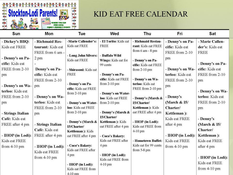 35 KID EAT FREE CALENDAR