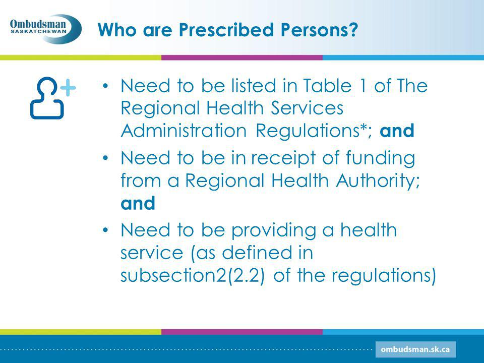 Who are Prescribed Persons.
