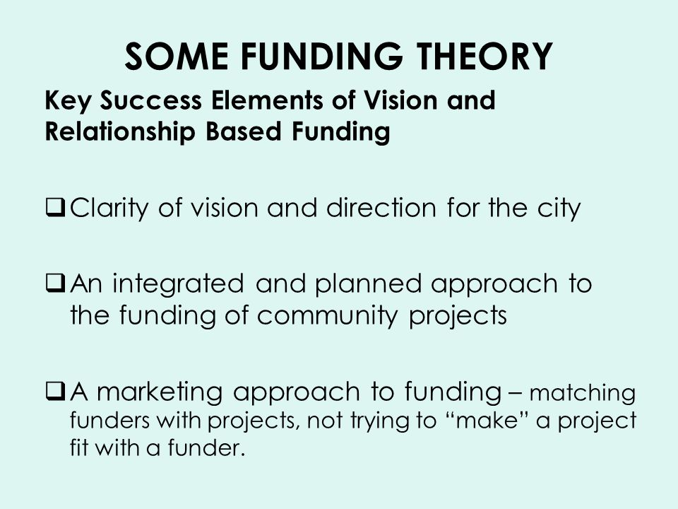 WESTERN BAY FUNDING STRATEGY