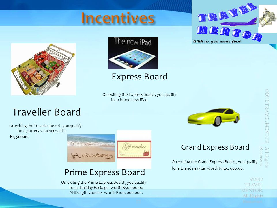 Traveller Board On exiting the Traveller Board, you qualify for a grocery voucher worth R2, 500.00 Express Board On exiting the Express Board, you qua