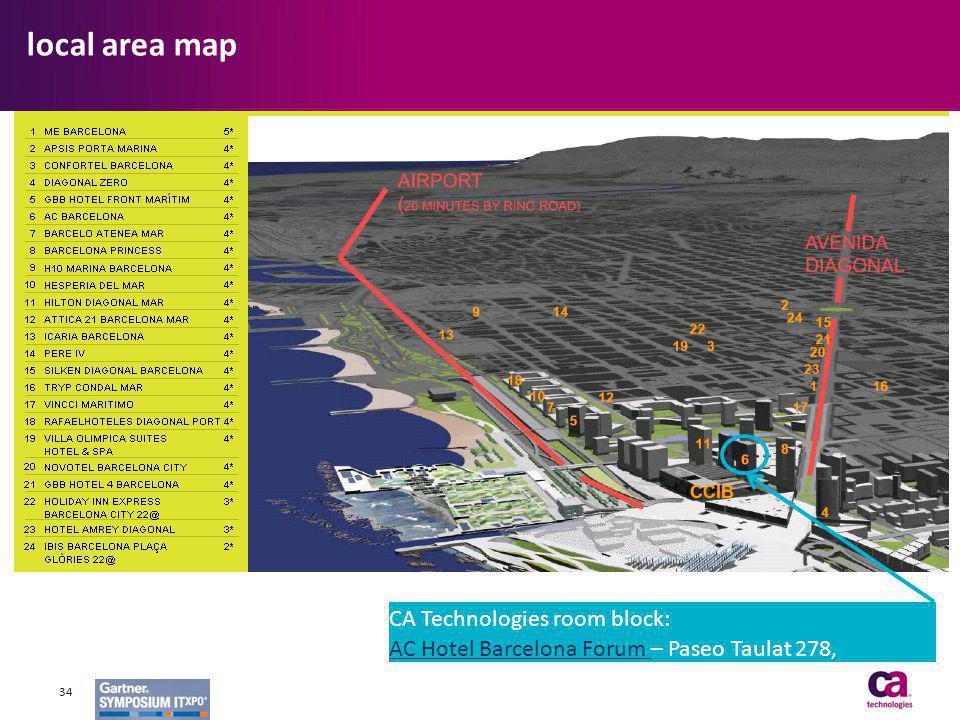 CA Technologies room block: AC Hotel Barcelona Forum AC Hotel Barcelona Forum – Paseo Taulat 278, Barcelona local area map 34