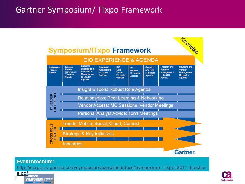 Event brochure: http://imagesrv.gartner.com/symposium/barcelona/docs/Symposium_ITxpo_2011_brochur e.pdf http://imagesrv.gartner.com/symposium/barcelon