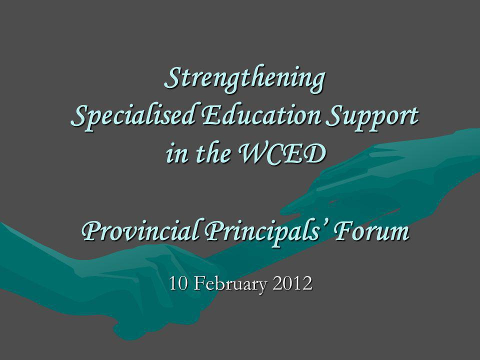 Role of the Specialised Learner and Educator Support Component The Vision in White Paper 6, is the development by the Specialised Education support component and other role-players of an inclusive education and training system.The Vision in White Paper 6, is the development by the Specialised Education support component and other role-players of an inclusive education and training system.
