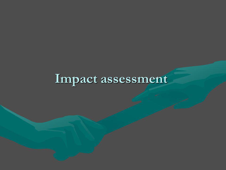 Impact assessment