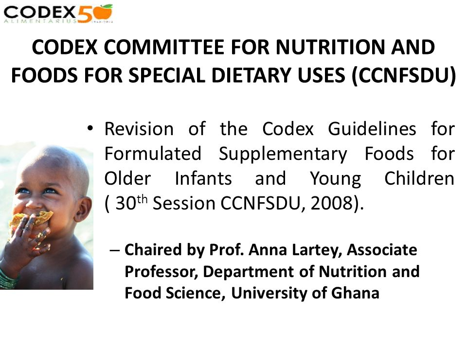 CODEX COMMITTEE FOR NUTRITION AND FOODS FOR SPECIAL DIETARY USES (CCNFSDU) Revision of the Codex Guidelines for Formulated Supplementary Foods for Old
