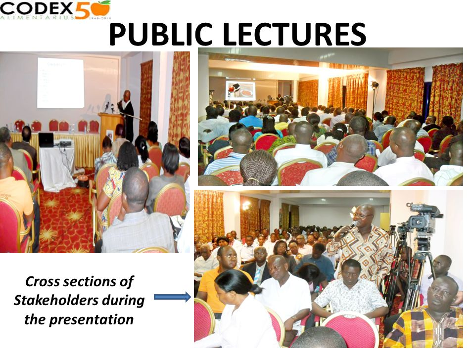 PUBLIC LECTURES Cross sections of Stakeholders during the presentation