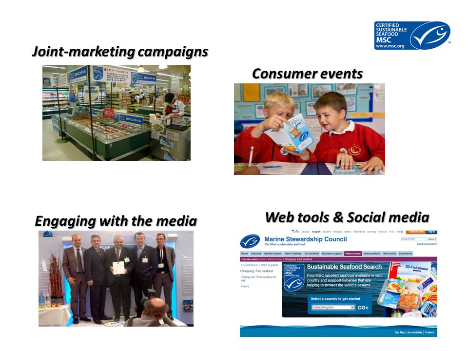 Joint-marketing campaigns Consumer events Engaging with the media Web tools & Social media media