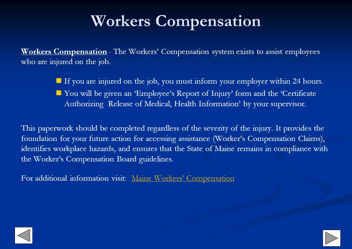 Workers Compensation Workers Compensation - The Workers Compensation system exists to assist employees who are injured on the job. If you are injured